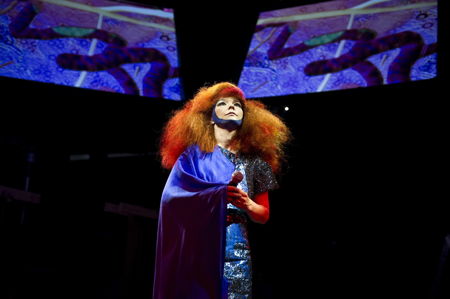 Bjork photographed in Manchester on 23 June 2011. Photo by: Carsten Windhorst / www.frpap.com / info@frpap.com