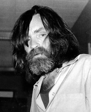 Convicted murderer Charles Manson is shown during an interview with television talk show host Tom Snyder in a medical facility in Vacaville, Ca. on June 10, 1981. (AP Photo)