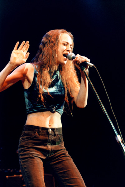 American singer-songwriter Fiona Apple performing live on stage