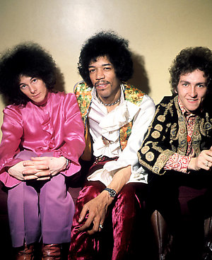 The Jimi Hendrix Experience; Noel Redding, Jimi Hendrix and Mitch Mitchell.