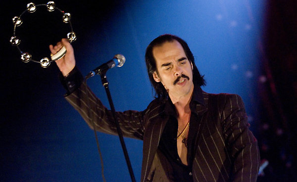 Picture shows :Nick Cave and The Bad Seeds performing at The Carling Academy, Glasgow.5th May 2008.Picture  © Drew Farrell Tel 07721-735041.