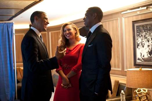 Barack Obama, Beyoncé and Jay-Z