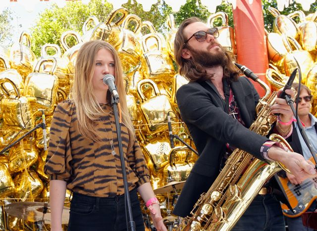 PALM SPRINGS, CA - APRIL 14:  Singer Natalie Bergman and musician Elliot Bergman of Wild Belle performs at Mulberry BBQ Pool Party at Coachella at the Parker Palm Springs on April 14, 2012 in Palm Springs, California.  (Photo by Donato Sardella/WireImage) *** Local Caption *** Natalie Bergman;Elliot Bergman