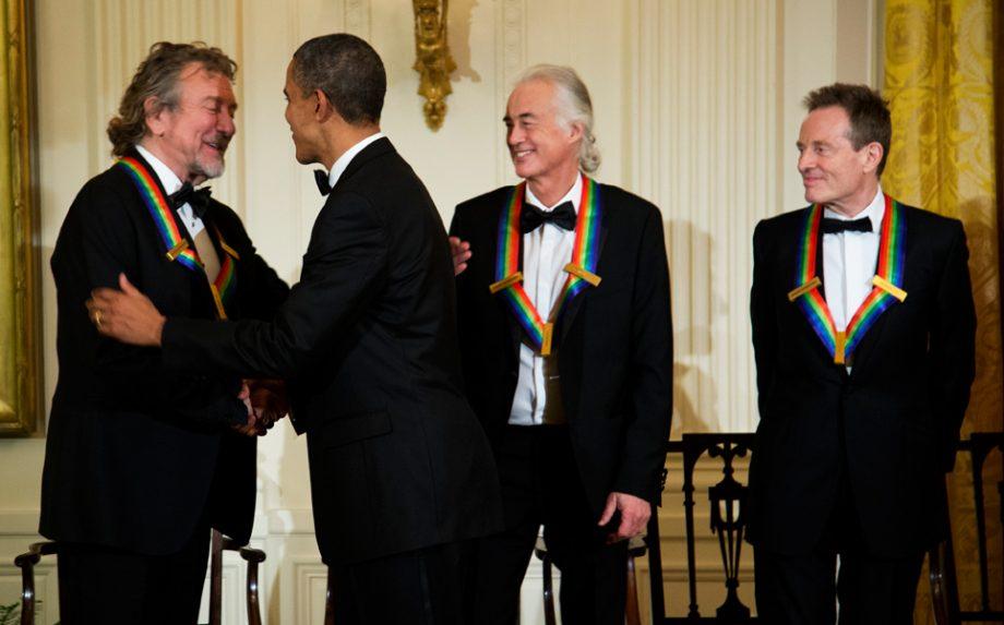 Led zeppelin meet barack obama at the white house nme led zeppelin meet barack obama at the white house m4hsunfo