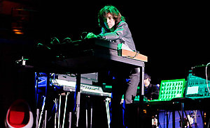 Jean Michel Jarre in concert at the Symphony Hall in Birmingham, to celebrate the 30th anniversary of the groundbreaking analogue synth album 'Oxygene'.
