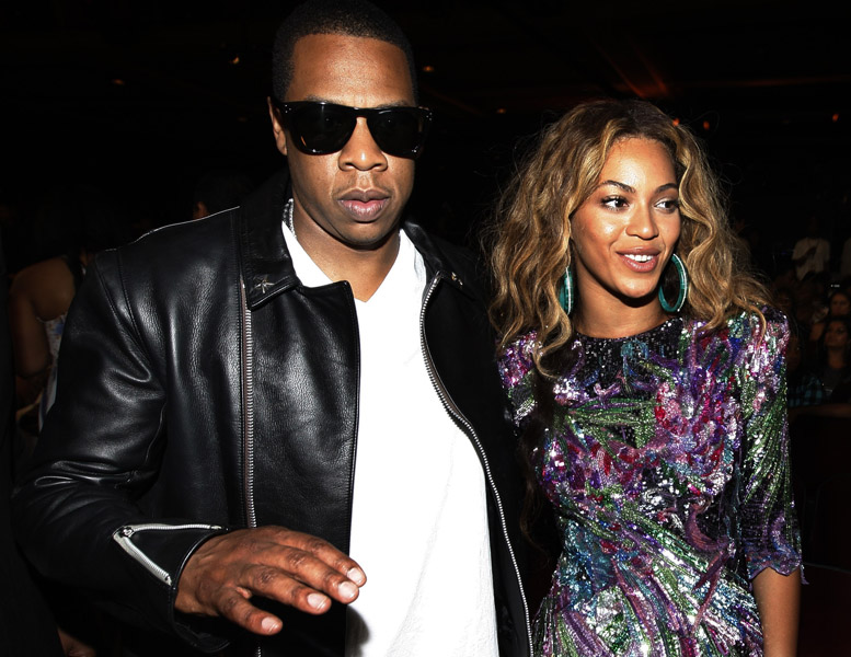 Jay-Z, left, and Beyonce Knowles are seen at the 9th Annual BET Awards on Sunday, June 28, 2009, in Los Angeles. (AP Photo/Matt Sayles)