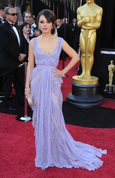 Mila Kunis arriving for the 83rd Academy Awards at the Kodak Theatre, Los Angeles.
