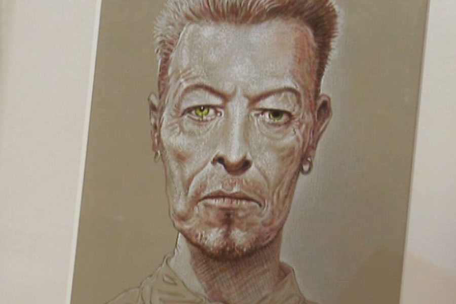 Peter Howson's David Bowie portraits to go up for auction
