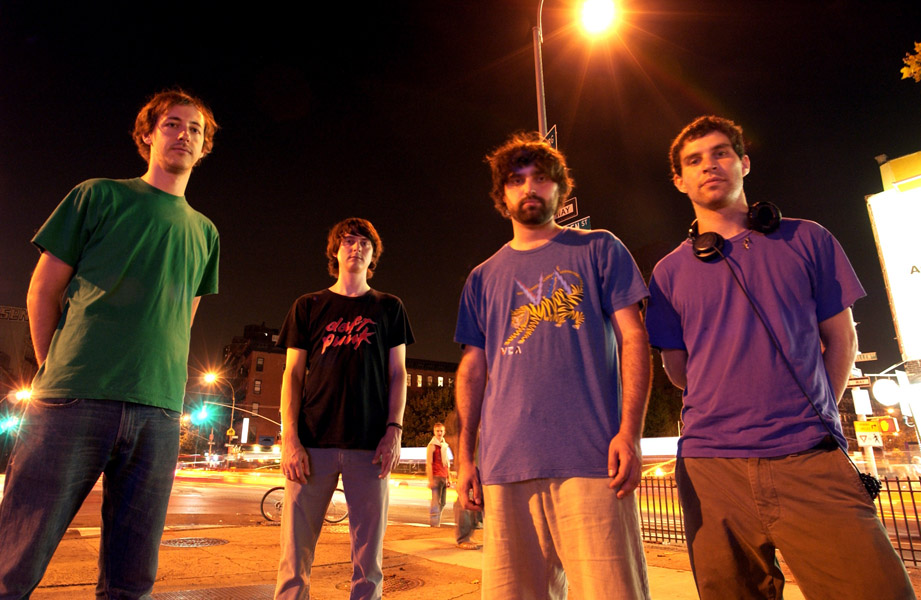** FILE **Music group Animal Collective is photographed in New York, in this Oct. 4, 2007, file photo. From left are Josh Dibb, Noah Lennox, Brian Weitz and Dave Portner. (AP Photo/Jim Cooper/FILE)