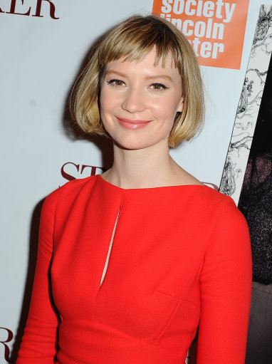 Mia Wasikowska attends the 'Stoker' New York Screening at The Film Society of Lincoln Center, Walter Reade Theatre on February 27, 2013 in New York City.