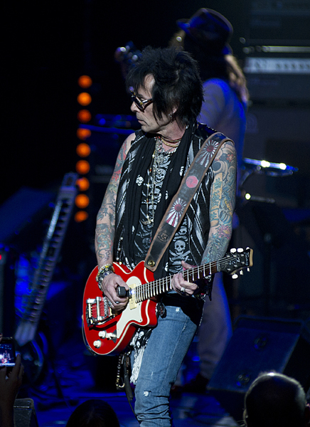 Earl Slick in concert during the Meltdown Festival at the South Bank Centre in London.