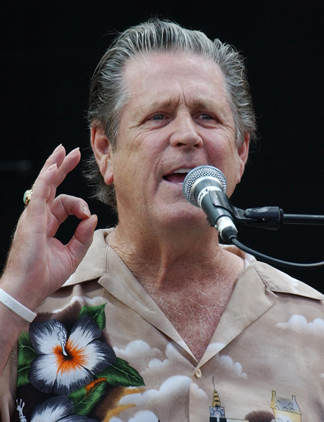 Brian Wilson performing on the Pyramid Stage.