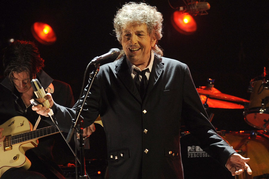 Bob Dylan performs during the 17th Annual Critics' Choice Movie Awards on Thursday, Jan. 12, 2012 in Los Angeles. (AP Photo/Chris Pizzello)