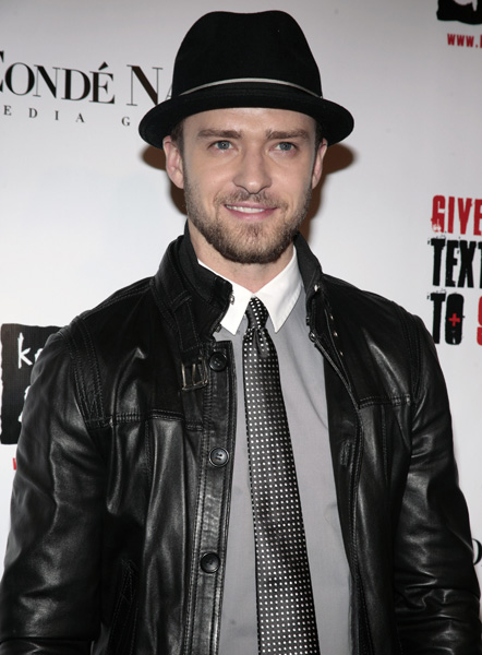 Singer Justin Timberlake arrives at the Keep a Child Alive annual Black Ball benefit event, Thursday, Nov. 13, 2008, in New York. (AP Photo/Andy Kropa)