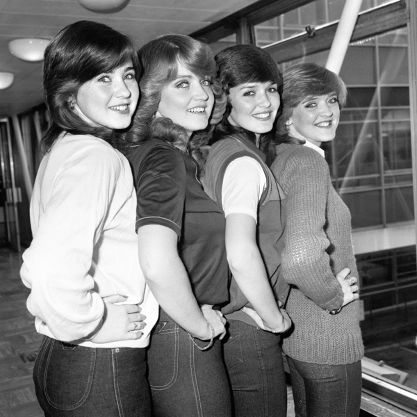 The Nolan Sisters, left to right, Coleen, Linda, Maureen and Bernadette.