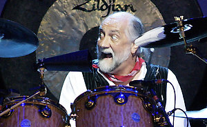 Mick Fleetwood of Fleetwood Mac performing at the Chronicle Pavilion in Concord CA.
