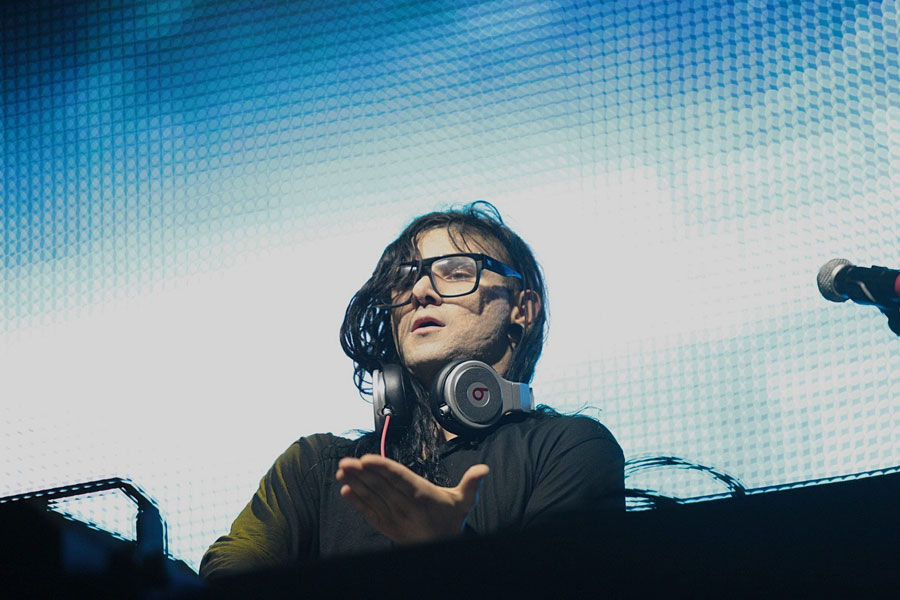 Skrillex Sets Light To His Own Hair Blowing Out Birthday Candles