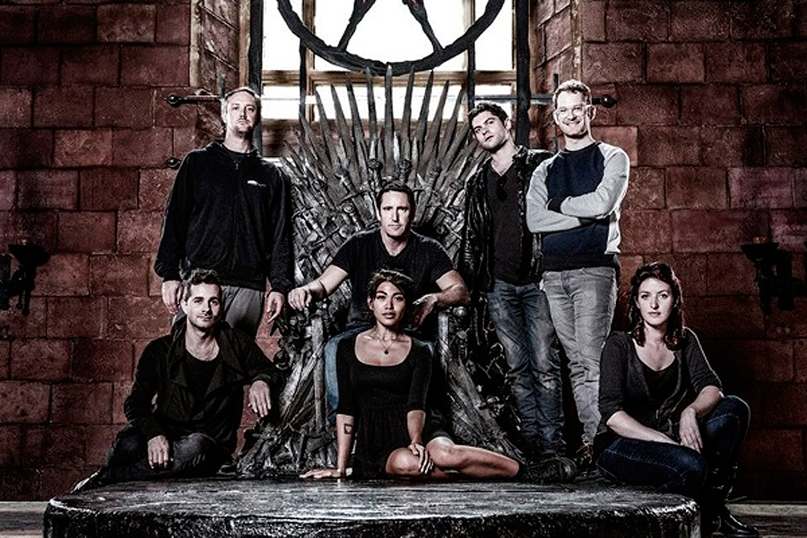Nine Inch Nails\' Trent Reznor poses on Iron Throne during \'Game Of ...