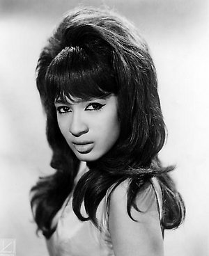 Posed studio portrait of Ronnie Spector of The Ronettes - EDITORIAL USE ONLY - NO COMMERCIAL USE PERMITTED