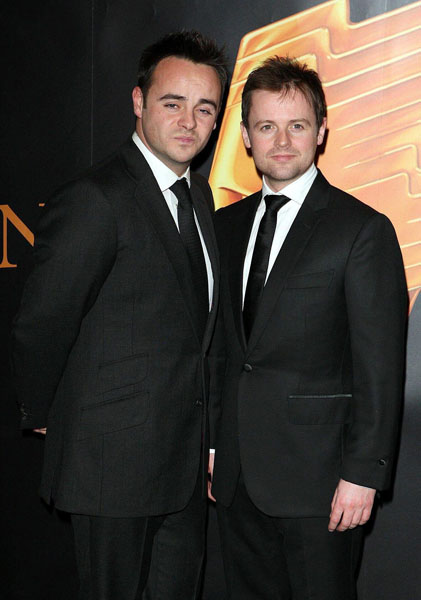 File photo dated 19/03/08 of Ant and Dec who have revealed that they may launch their hit television show - Saturday Night Takeaway - in the US.