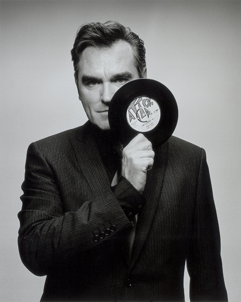 Studio shot of Morrissey NME 04/2004 B&W