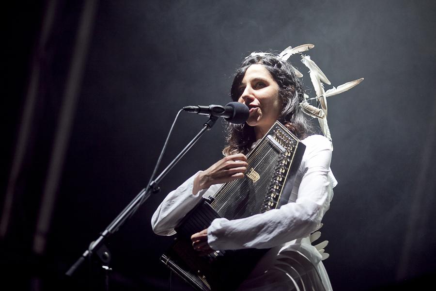 PJ Harvey, playing at Primavera Sound festival, 2011