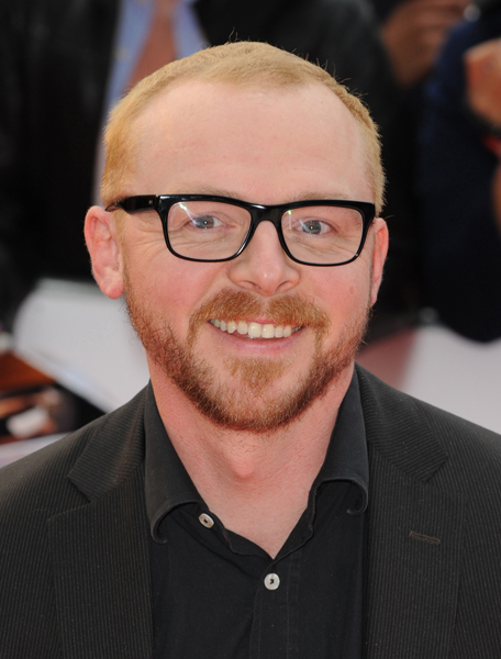 Simon Pegg arrives at the National Movie Awards, at the Royal Festival Hall on May 26, 2010 in London.