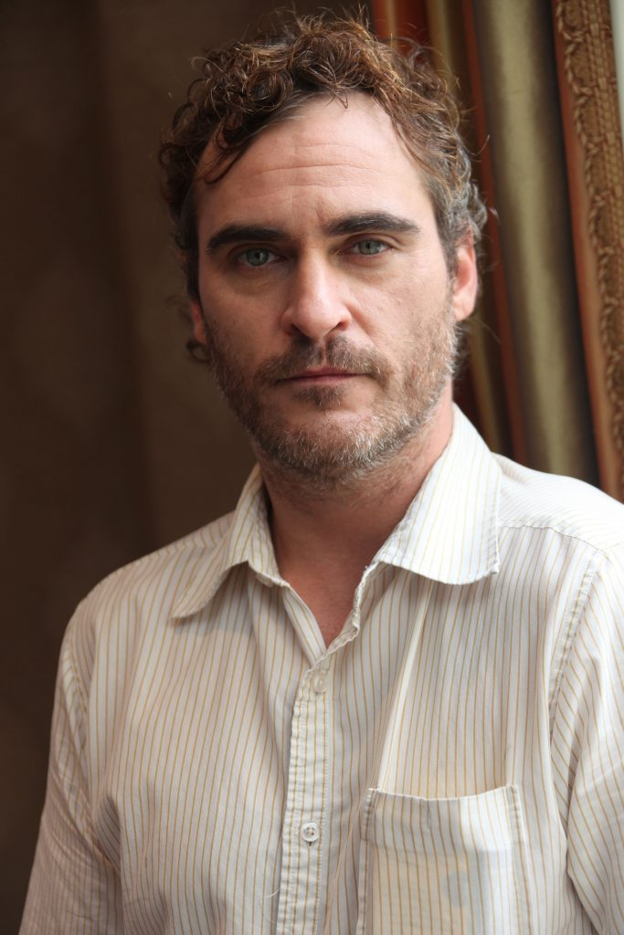 Joaquin Phoenix attends 'The Master' junket in Los Angeles on October 18, 2012.