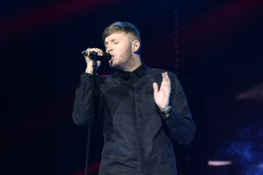 James Arthur performing on stage during the 2013 Capital FM Jingle Bell Ball at the O2 Arena, London.