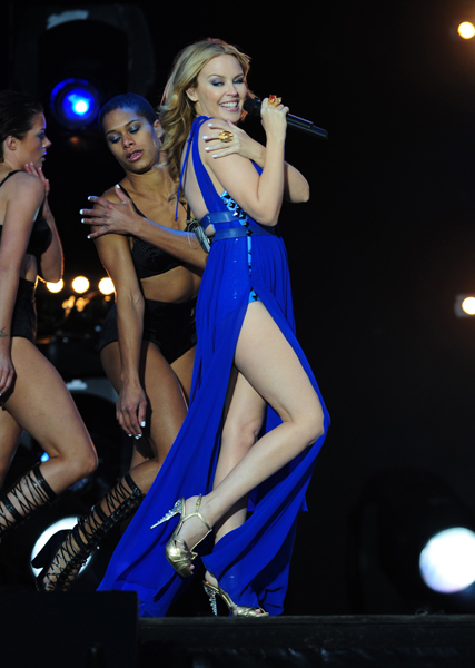 Kylie Minogue during the M6 Mobile Music Live held at Issy-Les-Moulineaux, France