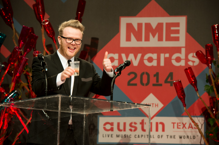 Huw Stephens hosting the NME Awards 2014