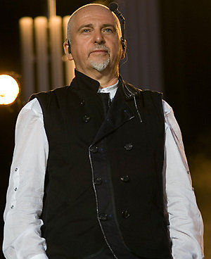 Peter Gabriel performing on the Main Stage at the Hyde Park Calling Festival in central London.