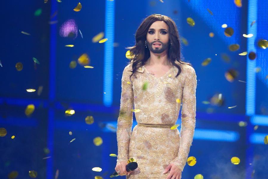 COPENHAGEN, DENMARK - MAY 10: Conchita Wurst of Austria wins the Eurovision Song Contest 2014 on May 10, 2014 in Copenhagen, Denmark. (Photo by Ragnar Singsaas/Getty Images)