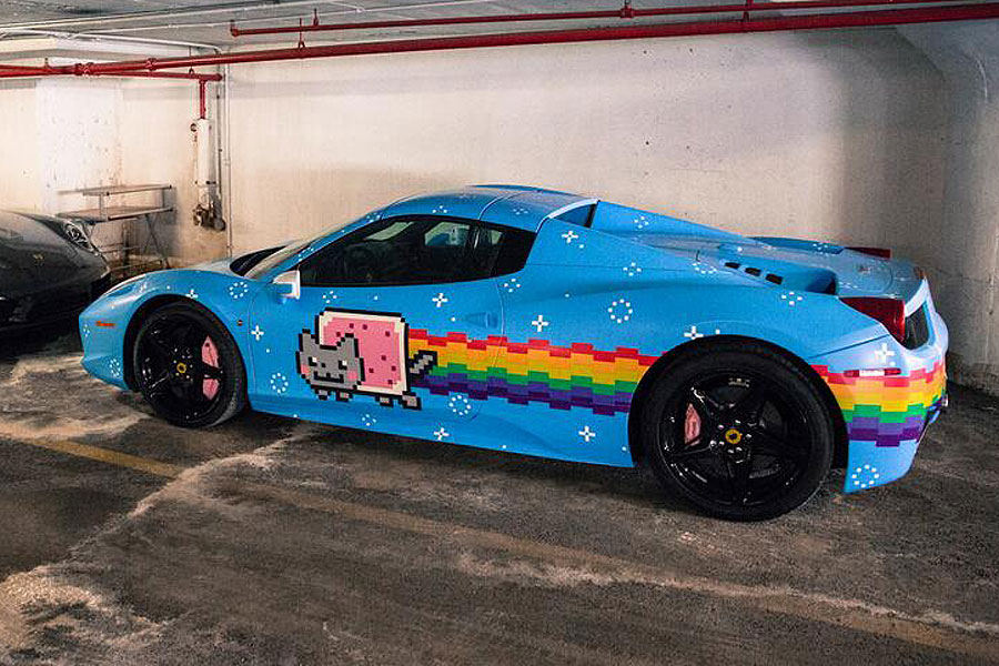 Deadmau5 is selling his Nyan Cat Ferrari for  380 796389863