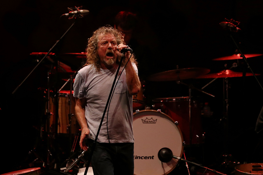 SINGAPORE - MARCH 21:  Former Led Zeppelin lead singer Robert Plant performs with his band The Sensational Space Shifters during the Timbre Rock & Roots Festival 2013 on March 21, 2013 in Singapore.  (Photo by Chris McGrath/Getty Images)