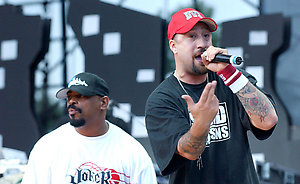 Cypress Hill performs live at the KROQ 106.7 Weenie Roast 2004 held at The Verizon Wireless Ampitheatre in Irvine, California.