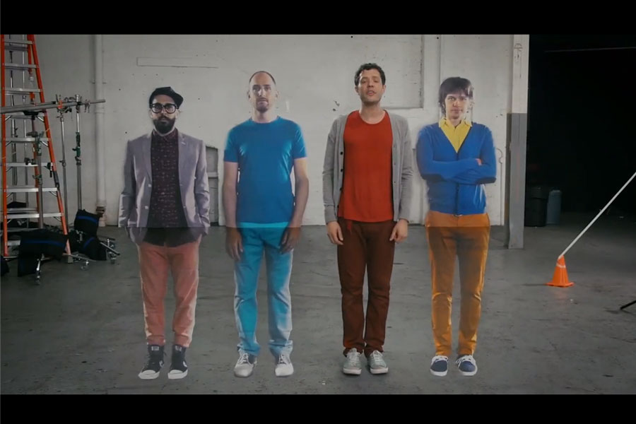 OK Go fill 'The Writing's on the Wall' video with optical illusions – watch