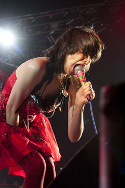 Yeah Yeah Yeahs live. 10 years of All Tomorrow's Parties festival. December 11 - 14, 2009. Butlins, Minehead.