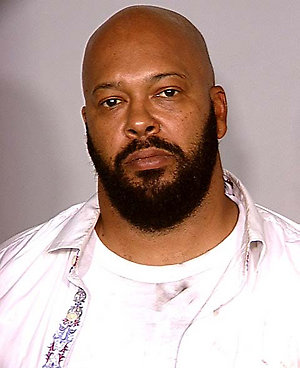 """This photo released by the Las Vegas Metropolitan Police Department shows rap music mogul Marion """"Suge"""" Knight after he was arrested Wednesday, Aug. 27, 2008, in Las Vegas. The 43-year-old Knight was arrested on charges of assault with a deadly weapon, possession of a controlled substance, possession of dangerous drugs without a prescription and battery domestic violence. (AP Photo/Las Vegas Metropolitan Police Department)"""