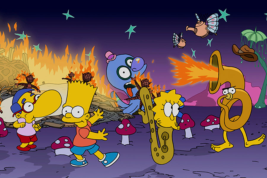 burning series the simpsons