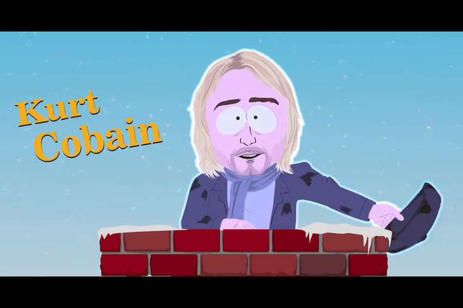 South Park Christmas.Holograms Of Kurt Cobain Tupac And Elvis Presley Appear In