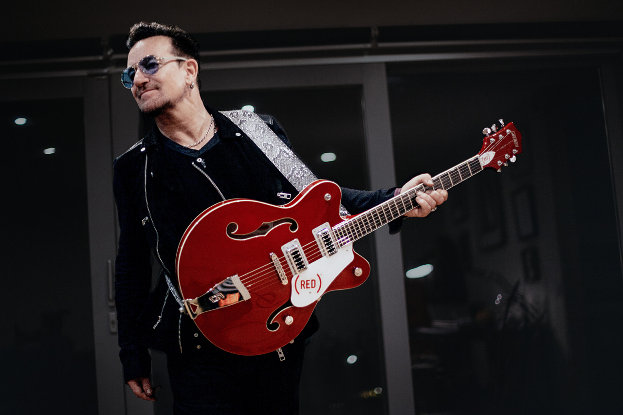 Bono Creates Signature Guitar With Gretsch For His Red