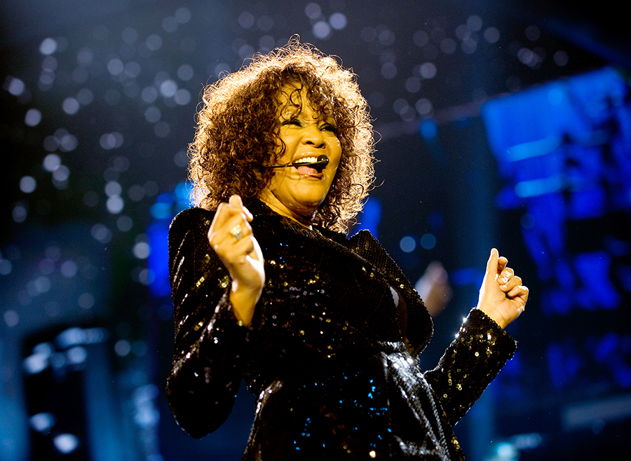 Whitney Houston Performs At The O2 Arena
