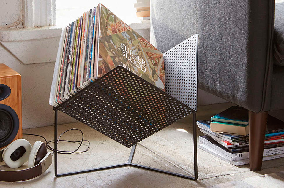 ... Wire Frame Magazine Racks, Then Look No Further Than Urban Outfittersu0027  Half Cube. Itu0027s A Perforated Steel Vinyl Rack That Holds Up To 70 Records:  Ideal.