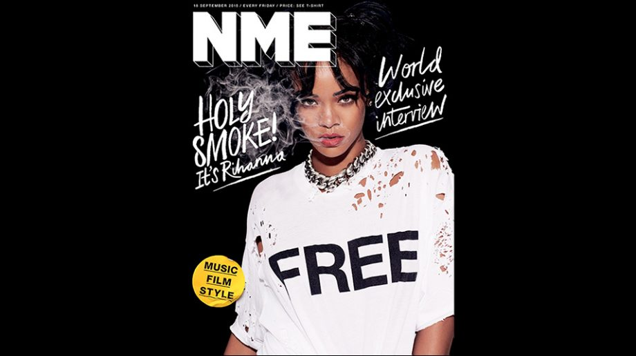 Rihanna is the first cover star of the new, free NME magazine - NME
