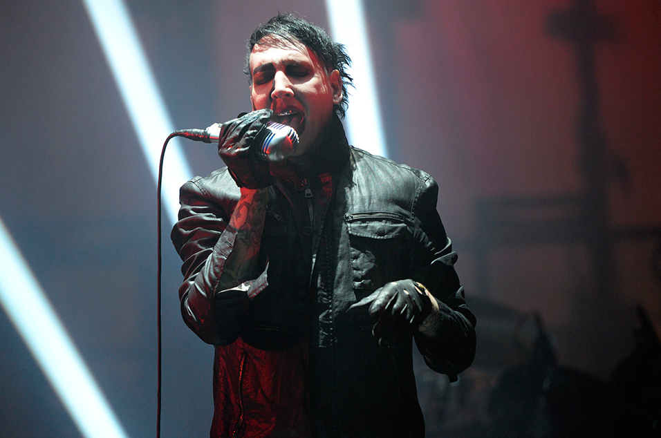 Watch Marilyn Manson Fall Off Stage During Show In Virginia