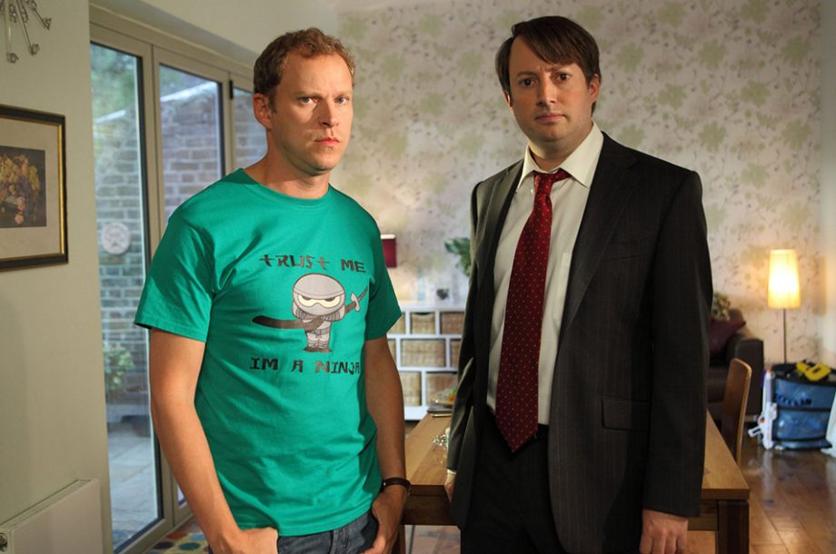 David Mitchell and Robert Webb finish filming last ever series of 'Peep Show' today