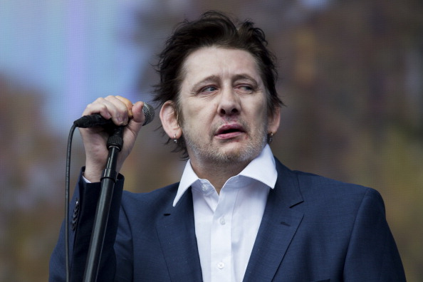 LONDON, ENGLAND - JULY 05:  Shane MacGowan of The Pogues performs on stage at British Summer Time Festival>> at Hyde Park on July 5, 2014 in London, United Kingdom.  (Photo by Tristan Fewings/Getty Images)