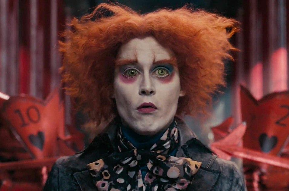 Johnny Depp Turns Up At Disneyland As Alice Through The