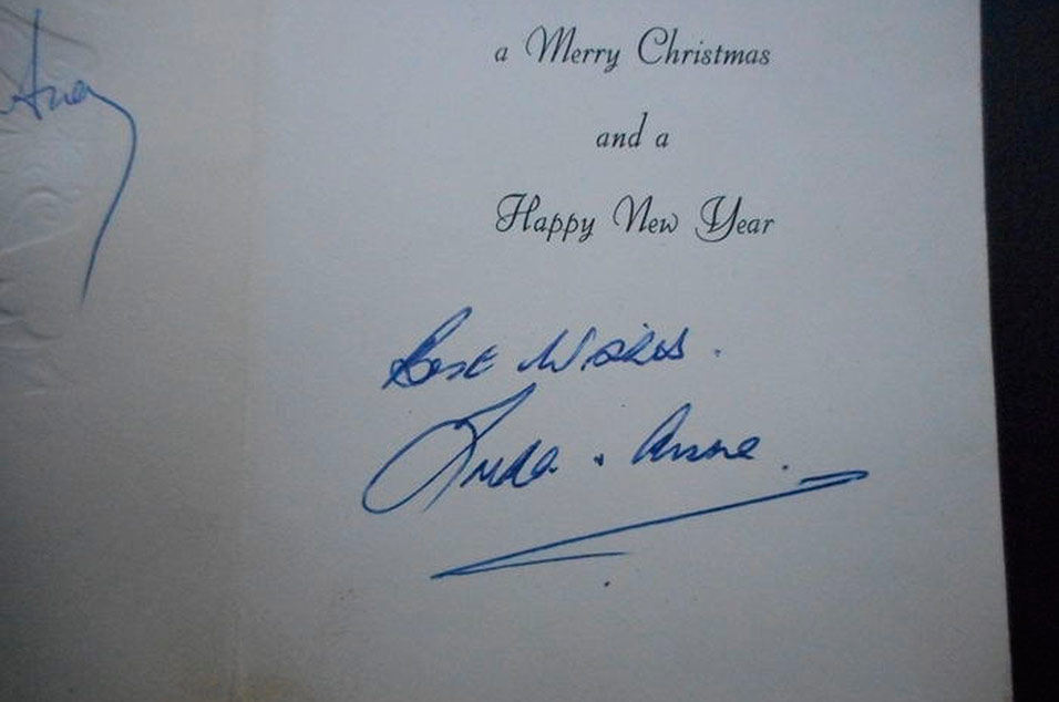 according to ben fried top dog at auction site catawiki this is one of the most exciting pieces of memorabilia weve seen yet and with beatle mania - Christmas Card Signatures